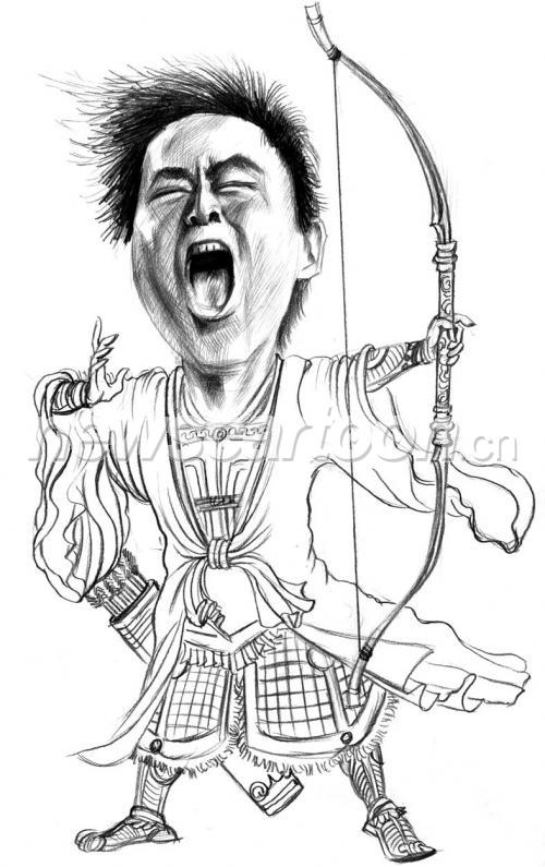 中国英雄人物简笔画素描