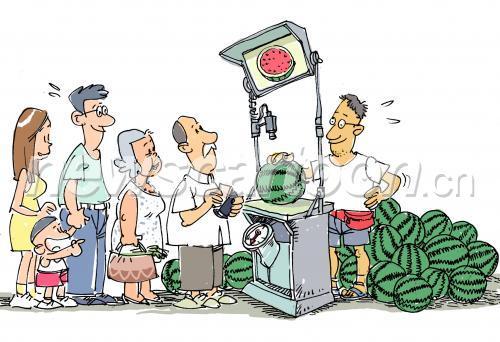 卖瓜的人卡通图片