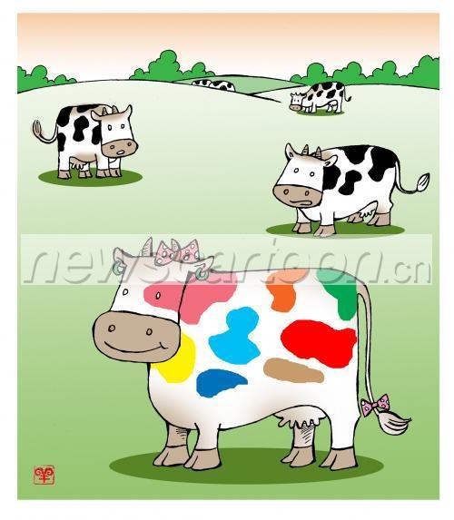 儿童画牛怎么画