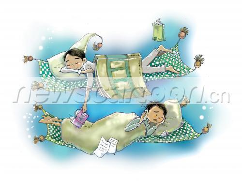 晚上睡不着卡通图片