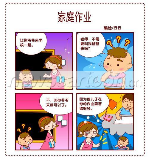 校园幽默四格漫画——07家庭作业