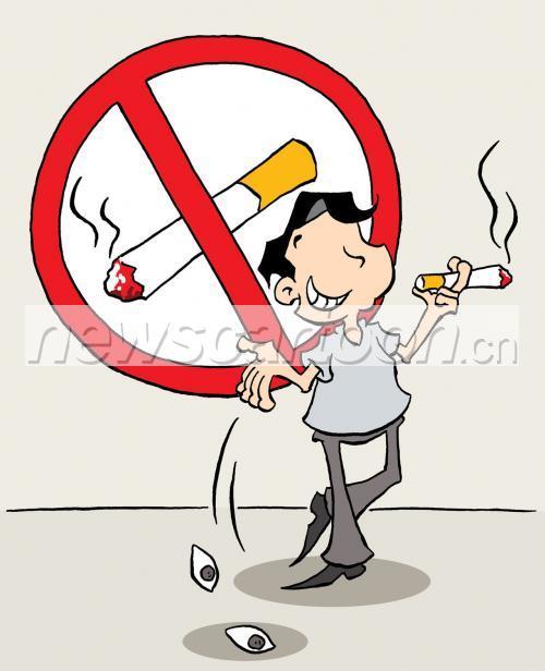 儿童环保戒烟漫画