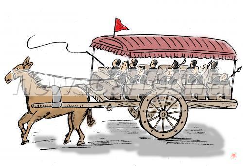 公务员,赶车,马车