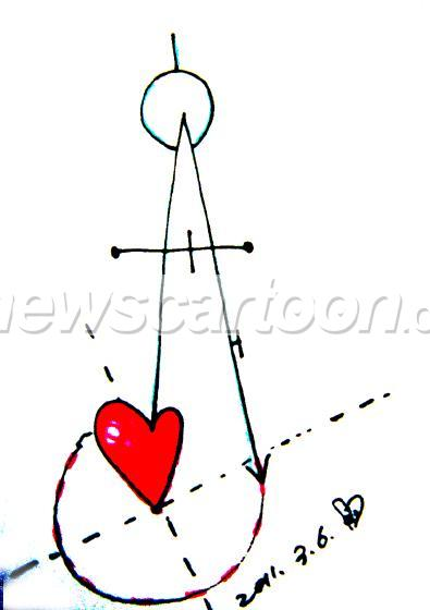 心脏线圆规画法图片