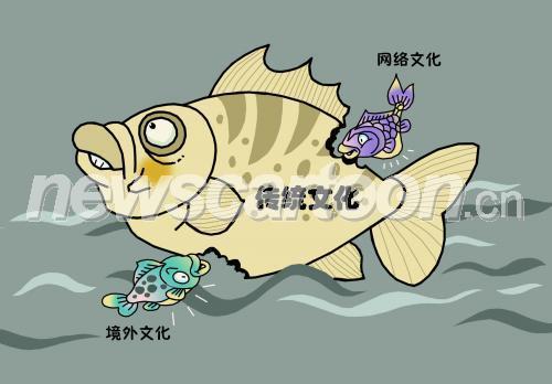 群鱼吃大鱼图片,小鱼吃大鱼漫画_小鱼吃大鱼
