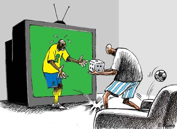 幽默系列漫画——客厅世界杯