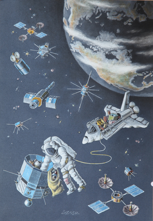 以未来太空科技为主题,第四届中国广西城市职业学院国际漫画大赛征稿