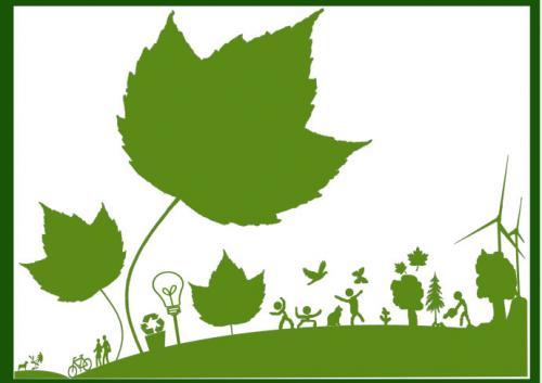 绿色卡通背景图片下载;
